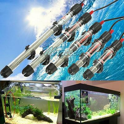 25/50/100/200/300W Water Heater Fish Tank Adjustable Pretty Aquarium Submersible