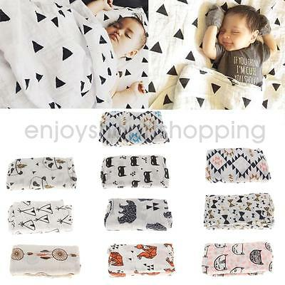Infant Baby Unisex Infant Muslin Blanket Cotton Swaddle Wrap Nursing Cover Towel
