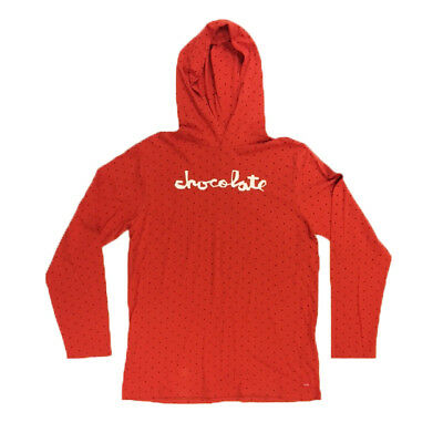 Chocolate Skateboards Square Men's Red Lightweight Hoody - Large