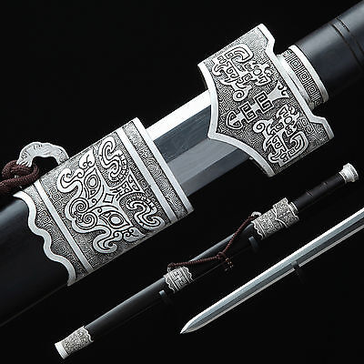 Hand Forge Chinese Sword High Quality Pattern Steel 608 Alloy Fitting