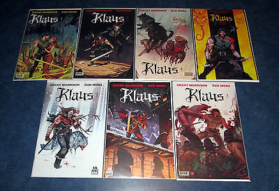 KLAUS #1 2 3 4 5 6 7 1st print complete set BOOM 2016 GRANT MORRISON movie opted