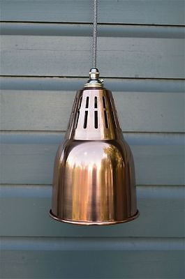 Urban chic solid copper vented hanging light pendant shade ceiling lamp UCCSR4