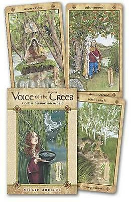 Voice of the Trees: A Celtic Divination Oracle by Mickie Mueller (English) Cards
