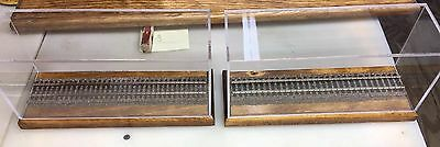 """9"""" HO Scale Train Display Case - Set Of 2"""
