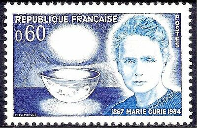 France 1967 Cancer Marie Curie Medical Health Science Nobel Physics Chemistry NH