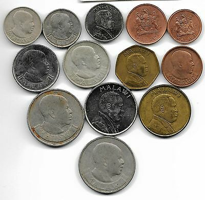 Malawi  Collection Of 13 Coins