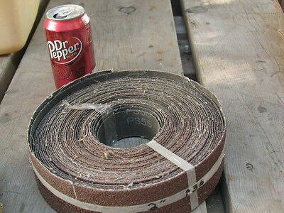"""Two inch (2"""") wide X 57ft long Sandpaper Roll (36grit) Alum/Ox Cloth Backed"""