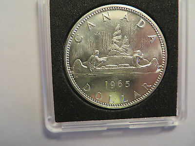 1965 Canadian Silver Dollar, 80% silver,  nice details