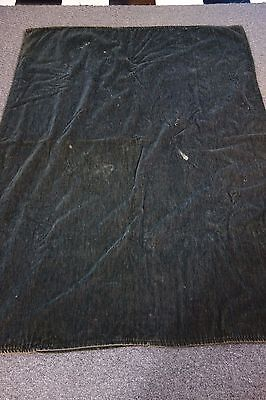 "Victorian Carriage Blanket - 51""x68""- Dark, Dark Green- SALE PRICE"