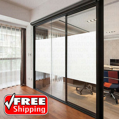 """36""""x10FT Frosted Privacy Home Decoration Window Door Glass Tint Film Sheet"""