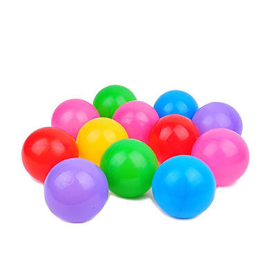 100X Multi-Color Cute Kids Soft Play Balls Toy for Ball Pit Swim Pit Ball Pool J