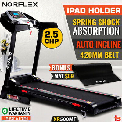 NEW NORFLX Xtreme 2.5CHP Treadmill Auto Incline Exercise Equipment Electric Moto