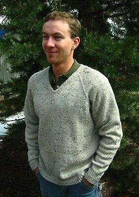 6ed0b93ec Knitting Pure   Simple Pattern  247 - V NECK DOWN PULLOVER for MEN - 42