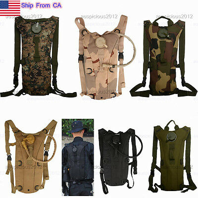 NEW 3L Hydration System Packs with Water Bladder Bag Cycling Hiking Backpack US