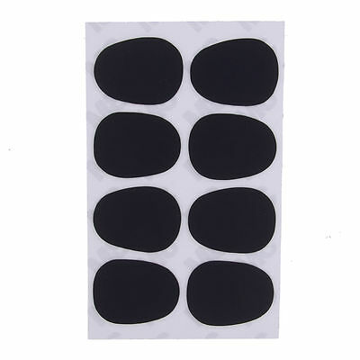 Hot 8PCS Tenor Saxophone Clarinet Mouthpiece Patches Pads 0.3mm Black