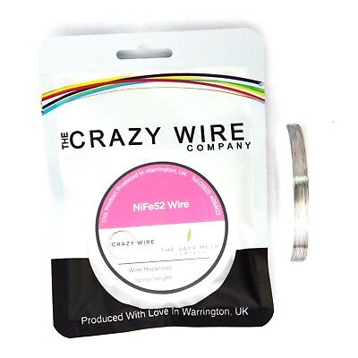 0.2mm (32 AWG) - NiFe52 Wire (52% Nickel) - 13.83 ohms/m - TCR - 3400