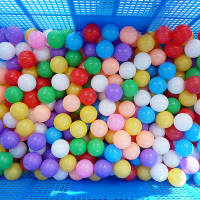 50PCS Colorful Soft Plastic Ocean Ball Fun Secure Baby Children Swim Pit Toy Hot