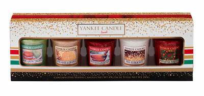 Yankee Candle 5 Votive Sampler Christmas Gift Set Holiday Party 2016