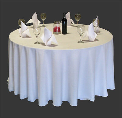 6 Restaurant Wedding Linen Table Cloths Poly Round 120""