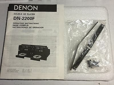 Denon DN-2200F Brackets And Manual - New