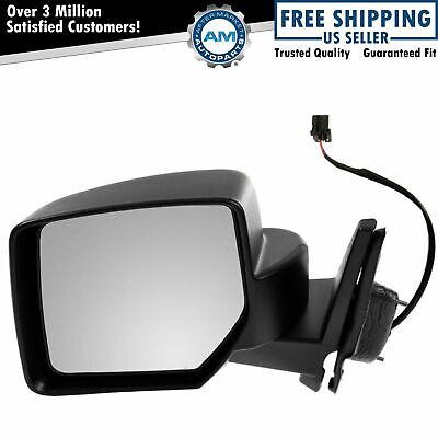 Side View Mirror Power Textured Black Driver Left LH for 07-17 Jeep Patriot