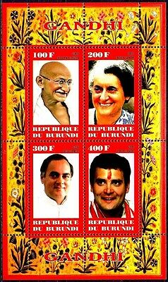 Burundi 2009 Gandhi Politician Philosophy Family Politics People MNH