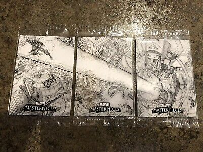 2007 Marvel Masterpieces - Extremely Rare Case Topper Set