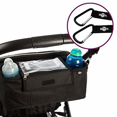 BTR Pram Buggy Buddy Stroller Organiser Storage Bag With Mobile Phone Holder & -