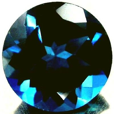 NATURAL AAA LONDON BLUE TOPAZ LOOSE GEMSTONES  (3.8 mm) ROUND SHAPE