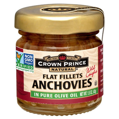 New Crown Prince Natural Anchovies Flat Fillets In Pure Olive Oil Kosher Low Fat