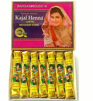12 x BEST QUALITY HENNA Fresh Quality Natural Henna Mehndi Cones *NO CHEMICALS*
