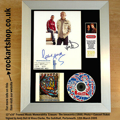ERASURE The Innocents *SIGNED VINCE CLARKE+ANDY BELL* AUTOGRAPHED FRAMED *WORLD