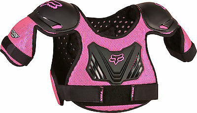Fox Racing PeeWee Titan Pink Roost Deflector Chest Protector Youth Girl's MX/ATV
