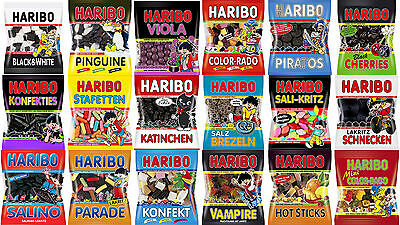 9 x Bags of HARIBO Licorice **Largest Selection of Haribo Licorice products**