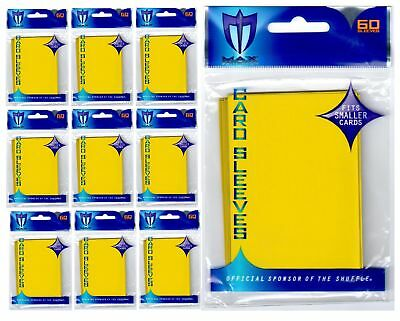 600 MAX PRO SMALL PREMIUM YELLOW DECK PROTECTORS SLEEVES Yugioh Lot - New!