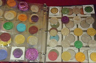 Huge collection of MARDI GRAS DOUBLOONS over 180 in collector book (AB2)
