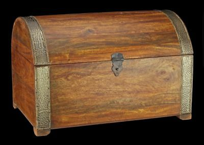 Medieval Wooden Chest - Pirate Treasure Chest - Treasure Box Metal Fittings