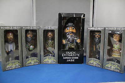 """Duck Dynasty Bobble Head Lot and 10"""" Garden Gnome"""