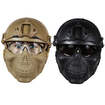 Military Tactical Gear Airsoft Paintball Helmet+Mask+Goggle for Hunting CS Game