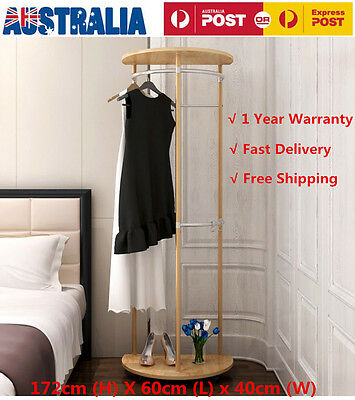 Wooden Umbrella Coat Hat Bag Clothes Shoes Rack Stand Shelf Garment Hanger Hooks