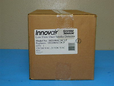 New System Sensor Innovair Dh100Acdclp Low Flow Duct Smoke Detector (50 Aval)