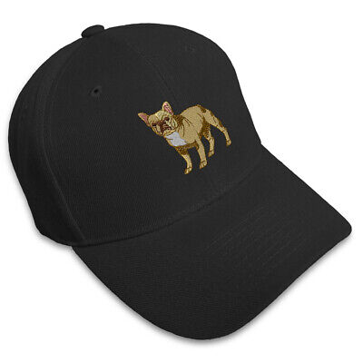 3f6922d1be6 FRENCH BULLDOG DOGS PETS Embroidery Embroidered Adjustable Hat Baseball Cap