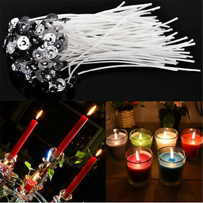 100pcs DIY Candle Wicks COTTON Core Candle Making Supplies Pretabbed Party Decor