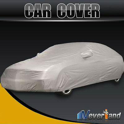 Full Auto Car Cover Waterproof Sun UV Snow Dust Rain Resistant Protection 2Layer