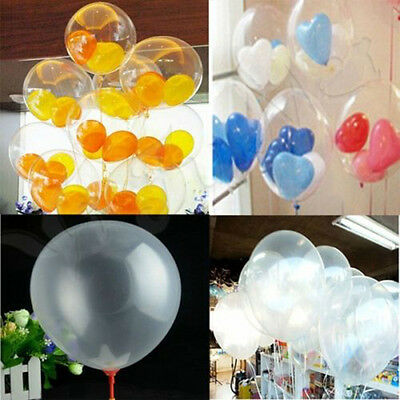 10/50/100 Latex Luftballons Transparent Ballon Hochzeit Party Deko Riesenballon