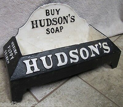Buy HUDSON'S SOAP Cast Iron Advertising dog water dish bowl storefront display