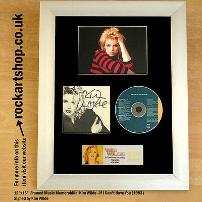 Kim Wilde SIGNED If I Can't Have You Autographed Framed Memorabilia WORLD SHIP
