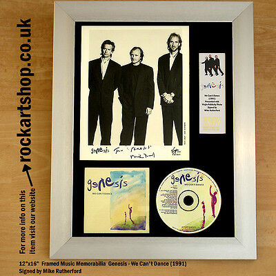 Genesis SIGNED We Can't Dance Mike Rutherford Autographed Framed *WORLD SHIP