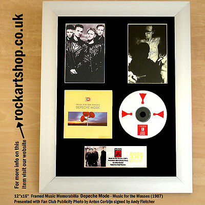 DEPECHE MODE Music for the Masses SIGNED BY ANDY FLETCHER Autograph WORLD SHIP