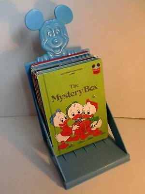 Vintage Disney Wonderful World Of Reading 10 Matte Books and Rack 1970s & 1980s
